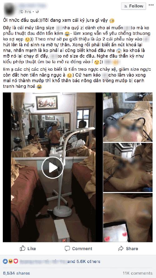 """Thực hư của phương pháp nâng ngực bằng máy hút chân không không cần phải """"dao kéo""""?"""