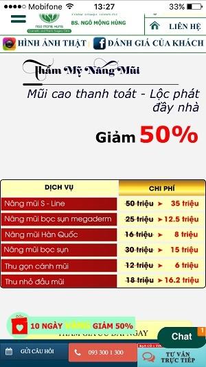 Nâng mũi tại Đà Nẵng giá bao nhiêu