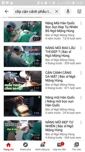 clip cận cảnh phẫu thuật nâng mũi
